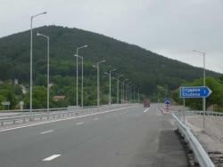 Снимка от магистралата край Студена